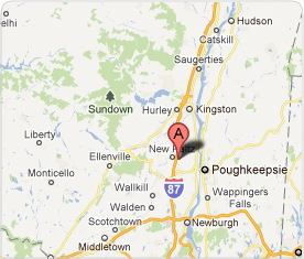 Map showing location of Lester Chiropractic in New Paltz.
